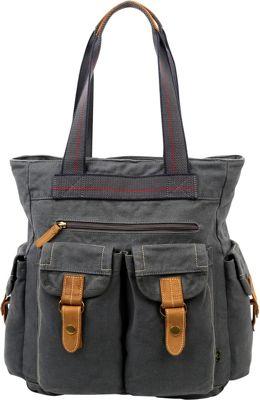 TSD Atona Utility Tote Grey - TSD Fabric Handbags