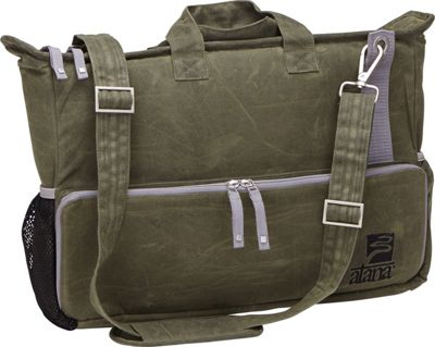 aTana Bags Day Tripper Messenger Bag Olive with Henna Topo - aTana Bags Messenger Bags