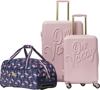 MacBeth On Vacay 3 Piece Luggage Set Pink - MacBeth Luggage Sets
