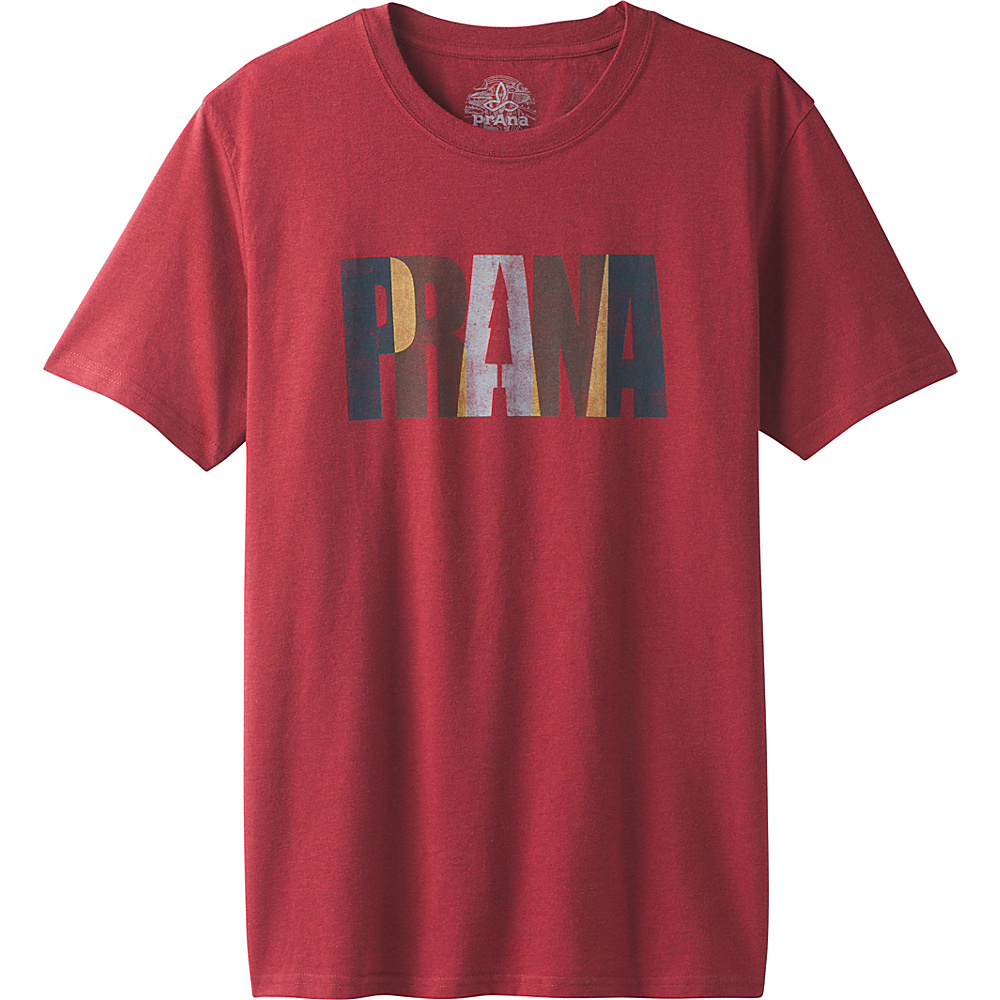 PrAna Lock Tee XL - Crimson Heather - PrAna Mens Apparel - Apparel & Footwear, Men's Apparel