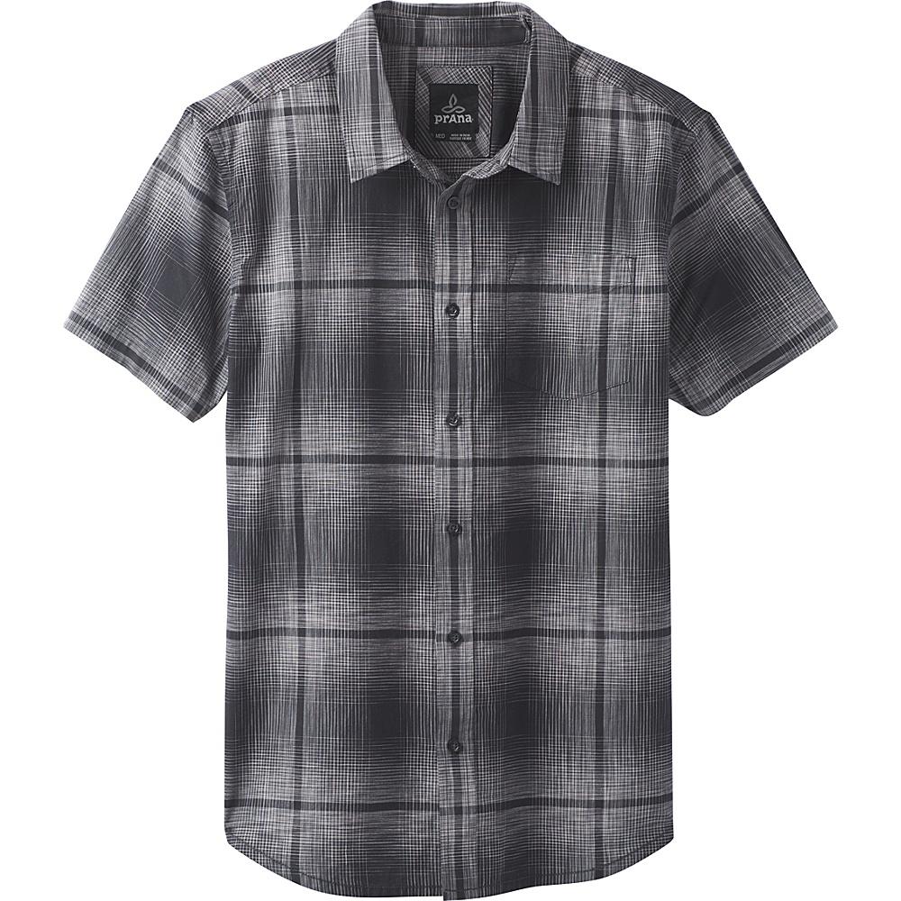 PrAna Ecto Space Dye Short Sleeve Shirt XXL - Charcoal - PrAna Mens Apparel - Apparel & Footwear, Men's Apparel
