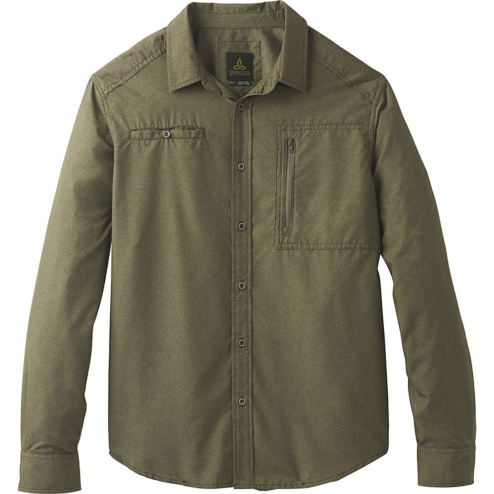 PrAna Kip Long Sleeve L - Cargo Green - PrAna Mens Apparel - Apparel & Footwear, Men's Apparel