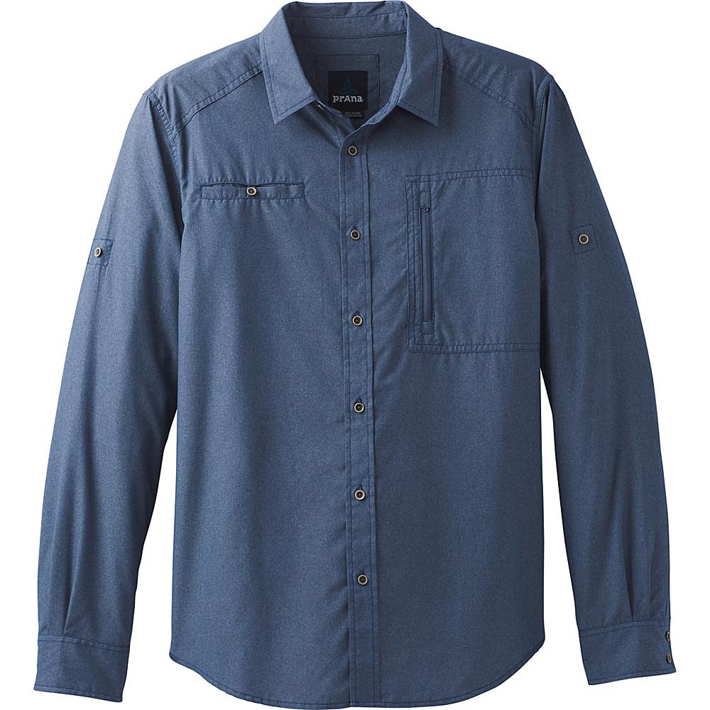 PrAna Kip Long Sleeve XL - Equinox Blue - PrAna Mens Apparel - Apparel & Footwear, Men's Apparel