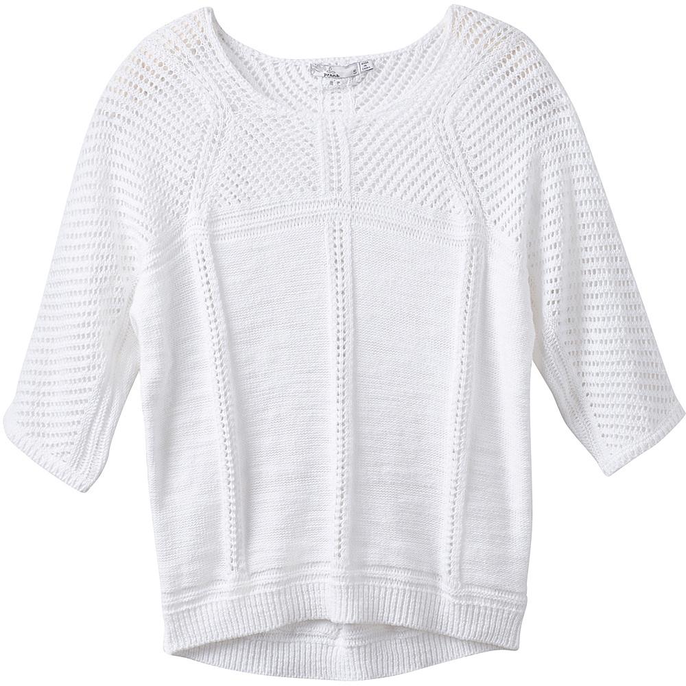 PrAna Getup Sweater M - White - PrAna Womens Apparel - Apparel & Footwear, Women's Apparel