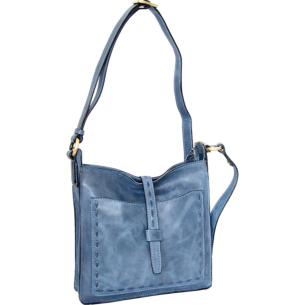 Nino Bossi Lainey Cross Body Bag Denim - Nino Bossi Leather Handbags - Handbags, Leather Handbags