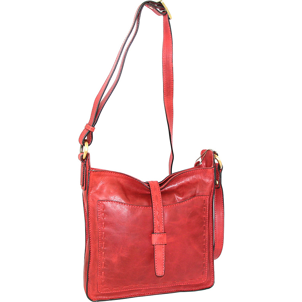 Nino Bossi Lainey Cross Body Bag Red - Nino Bossi Leather Handbags - Handbags, Leather Handbags