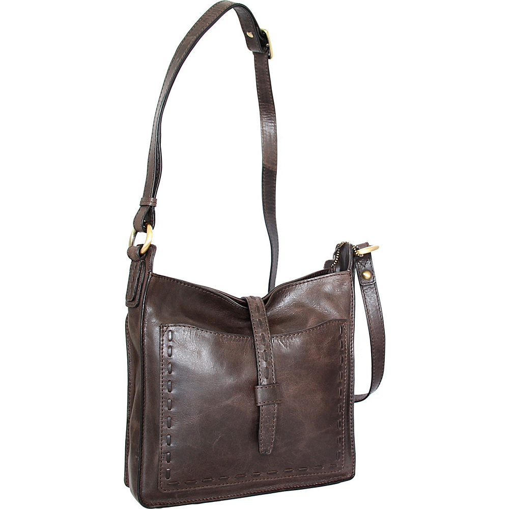 Nino Bossi Lainey Cross Body Bag Chocolate - Nino Bossi Leather Handbags - Handbags, Leather Handbags
