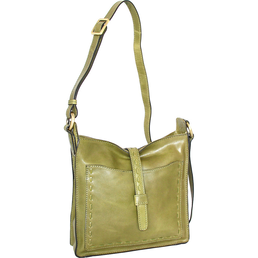 Nino Bossi Lainey Cross Body Bag Avocado - Nino Bossi Leather Handbags - Handbags, Leather Handbags