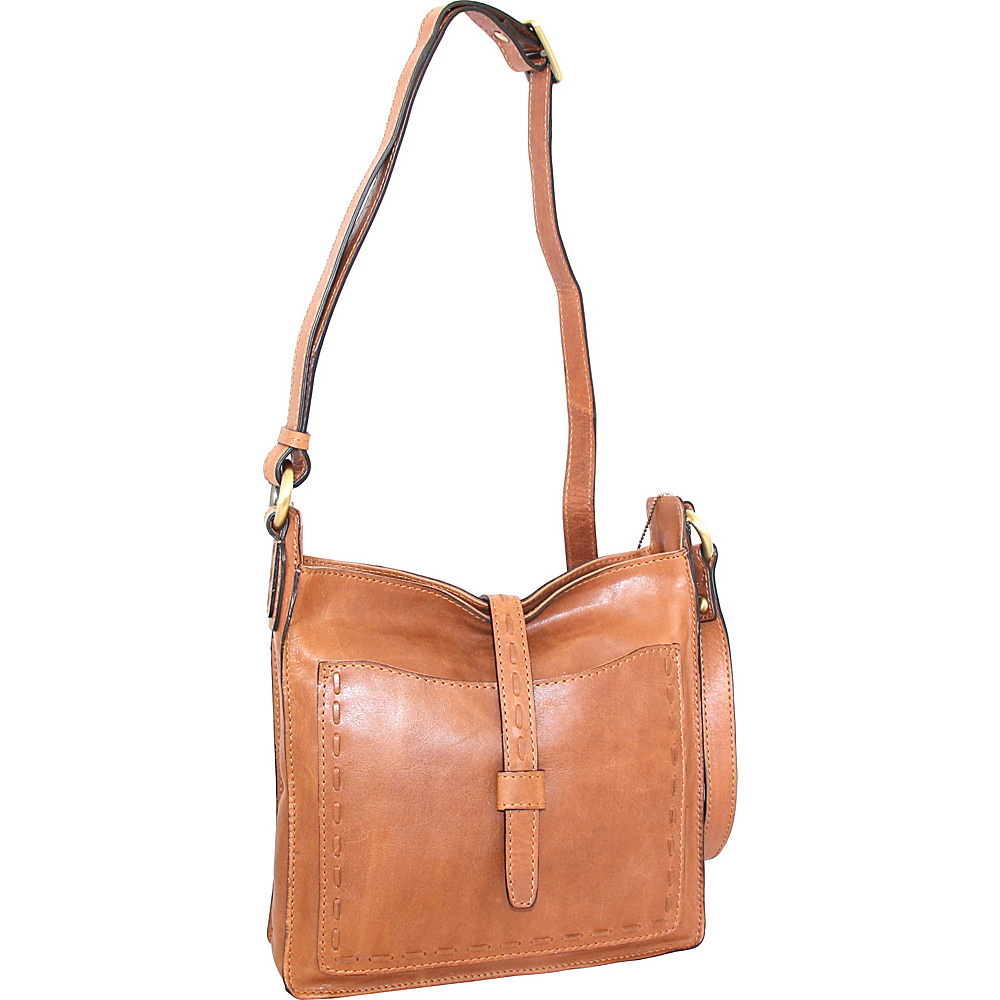 Nino Bossi Lainey Cross Body Bag Nut - Nino Bossi Leather Handbags - Handbags, Leather Handbags