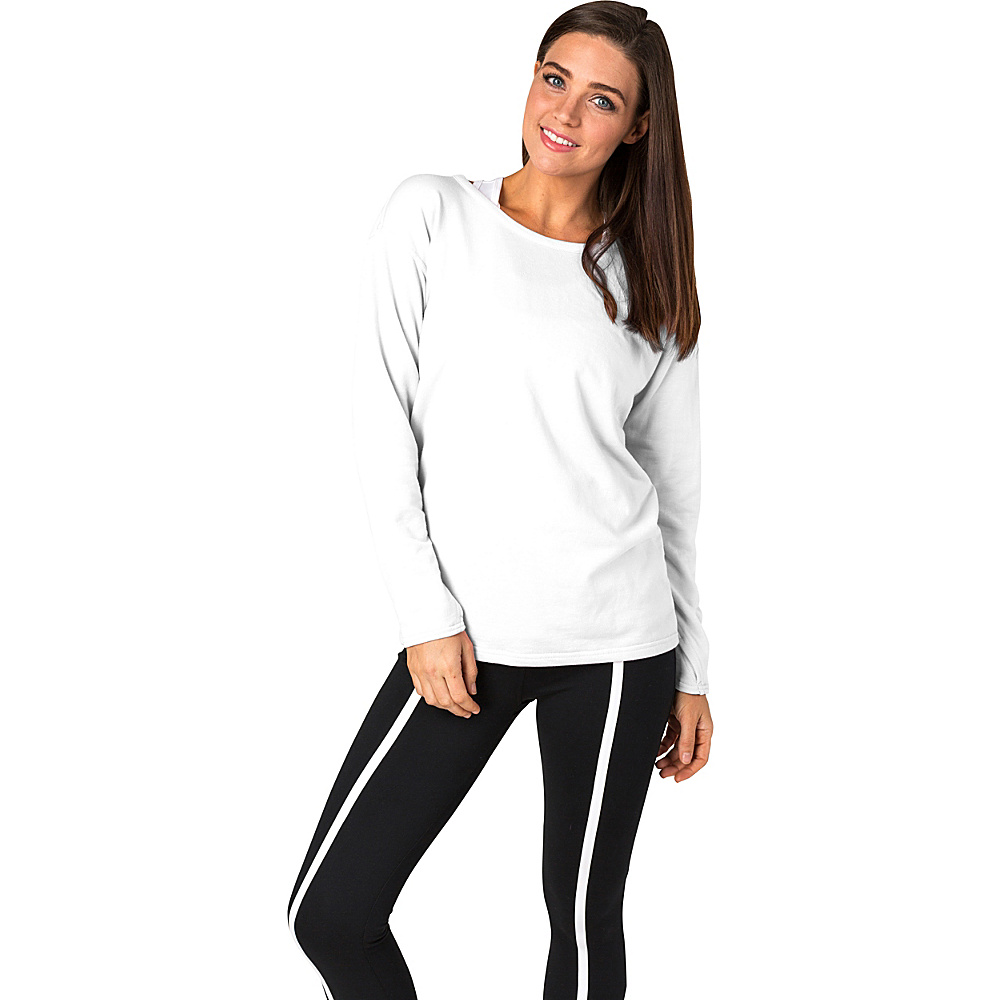 Soybu Womens Unity Pullover L - White - Soybu Womens Apparel - Apparel & Footwear, Women's Apparel