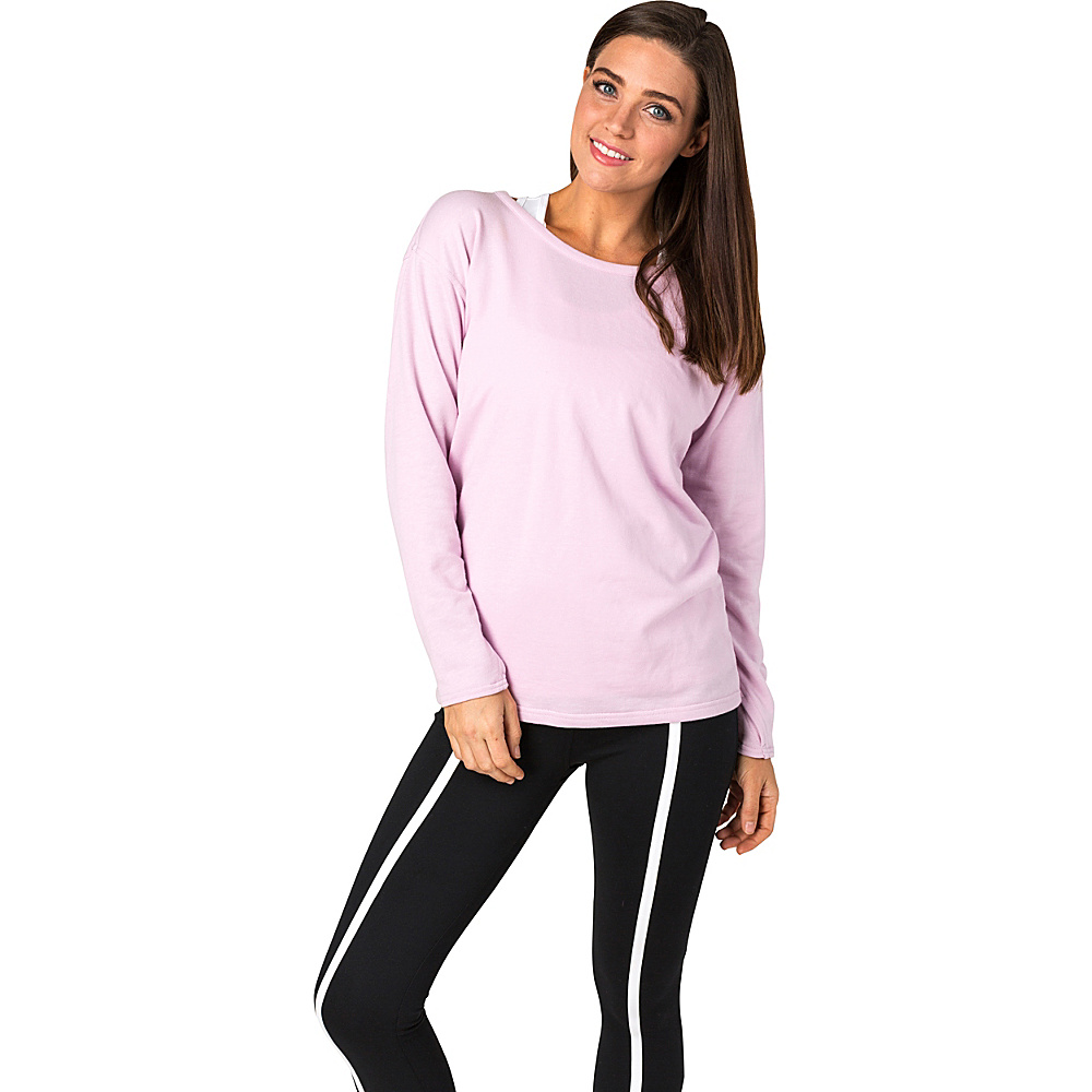 Soybu Womens Unity Pullover L - Rosewater - Soybu Womens Apparel - Apparel & Footwear, Women's Apparel