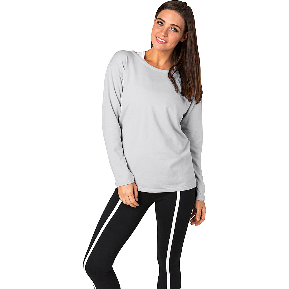Soybu Womens Unity Pullover L - Platinum - Soybu Womens Apparel - Apparel & Footwear, Women's Apparel