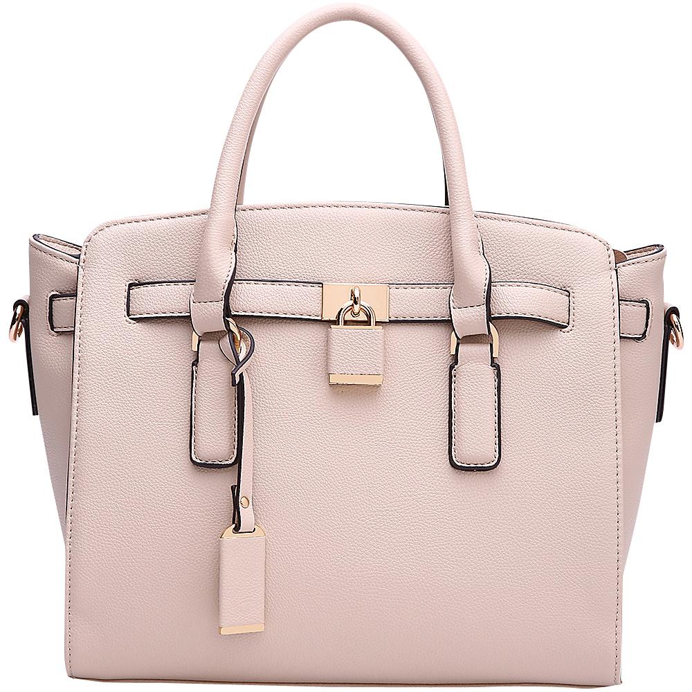MKF Collection by Mia K. Farrow Danna Satchel Beige - MKF Collection by Mia K. Farrow Manmade Handbags - Handbags, Manmade Handbags