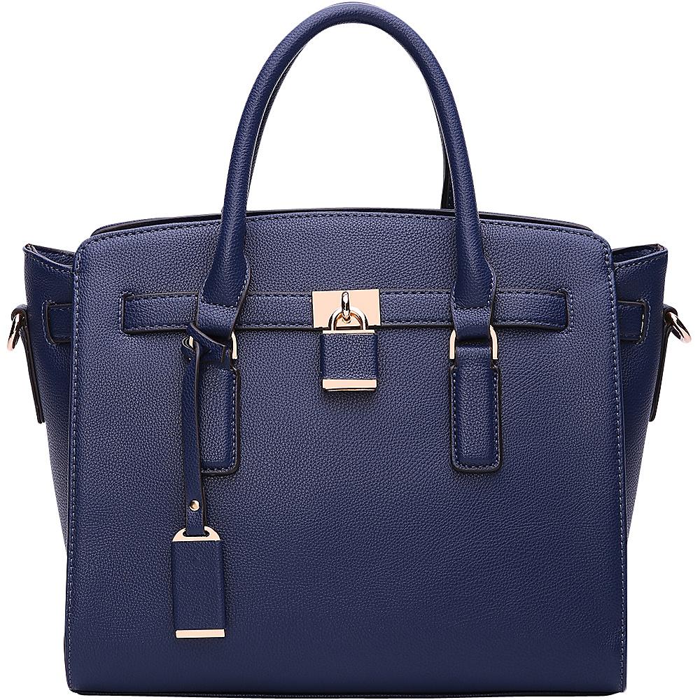 MKF Collection by Mia K. Farrow Danna Satchel Navy - MKF Collection by Mia K. Farrow Manmade Handbags - Handbags, Manmade Handbags