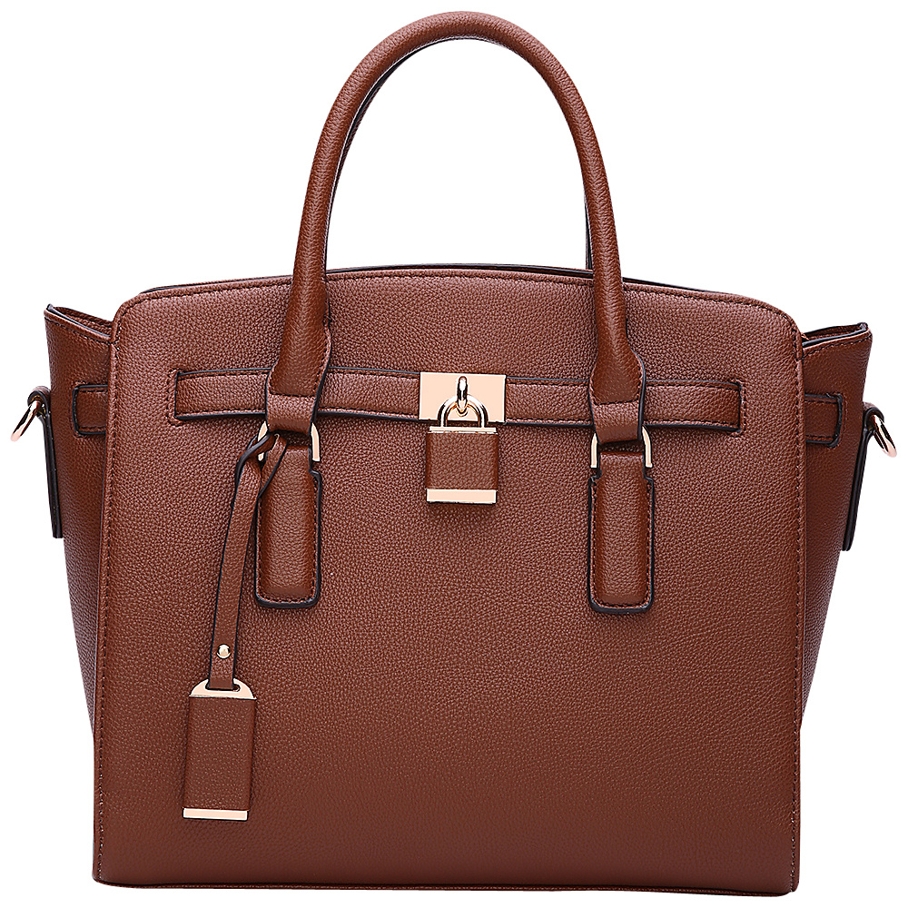 MKF Collection by Mia K. Farrow Danna Satchel Brown - MKF Collection by Mia K. Farrow Manmade Handbags - Handbags, Manmade Handbags