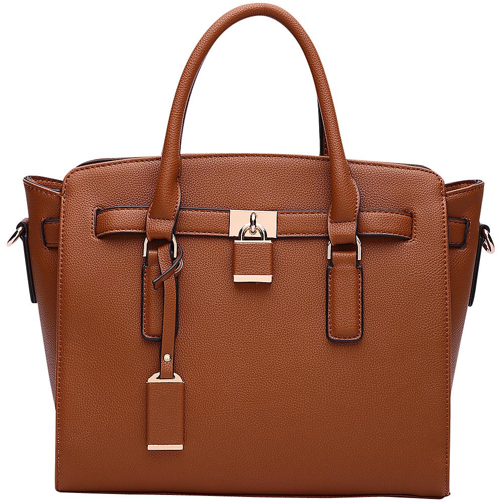 MKF Collection by Mia K. Farrow Danna Satchel Camel - MKF Collection by Mia K. Farrow Manmade Handbags - Handbags, Manmade Handbags