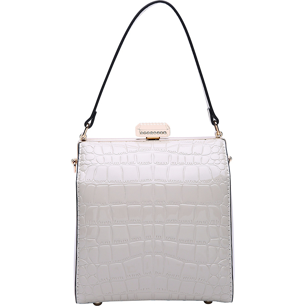 MKF Collection by Mia K. Farrow Fany Evening Crossbody White - MKF Collection by Mia K. Farrow Manmade Handbags - Handbags, Manmade Handbags