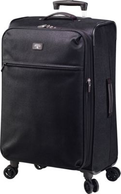 Jump Solera Medium Expandable Spinner Packing Suitcase Black - Jump Softside Checked