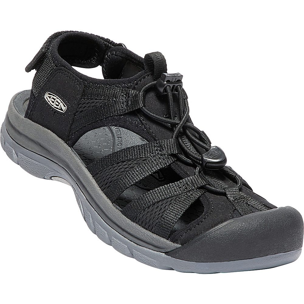 KEEN Womens Venice II H2 Sandals 6.5 - Black/Steel Grey - KEEN Womens Footwear - Apparel & Footwear, Women's Footwear