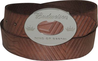 Budweiser Bowtie Belt 36 - Brown - Budweiser Belts
