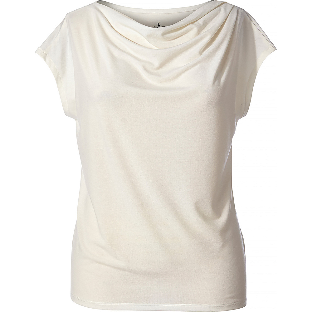 Royal Robbins Womens Essential Tencel Cowl Neck M - Creme - Royal Robbins Womens Apparel - Apparel & Footwear, Women's Apparel