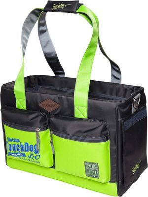 Touchdog Active-Purse Water Resistant Dog Carrier Yellow Green/Black - Touchdog Pet Bags