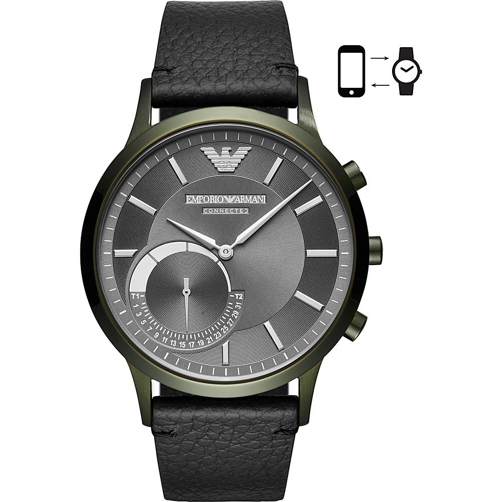 Emporio Armani Connected Mens Hybrid Smartwatch Black - Emporio Armani Wearable Technology