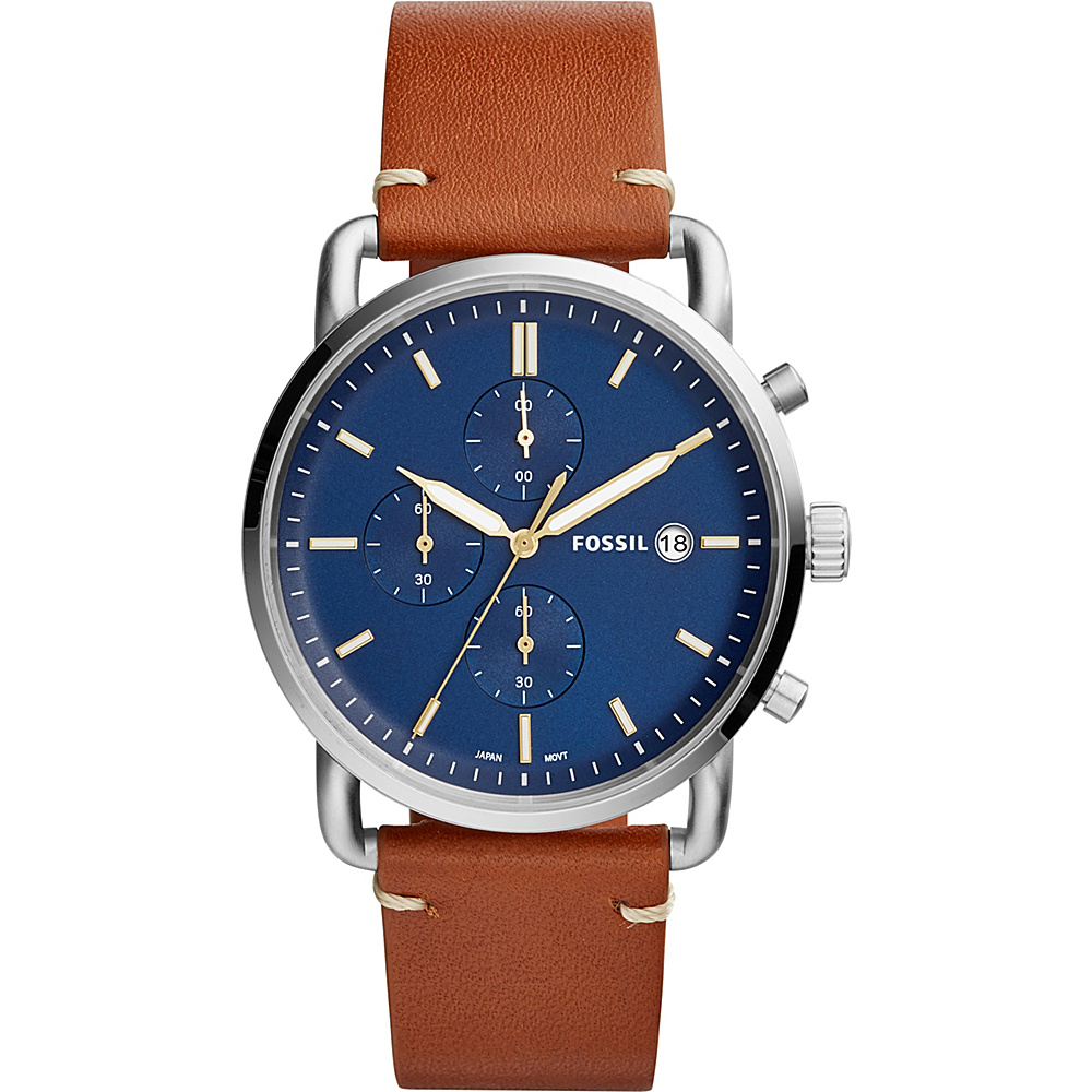 Fossil The Commuter Chronograph Light Brown Leather Watch Brown - Fossil Watches - Fashion Accessories, Watches