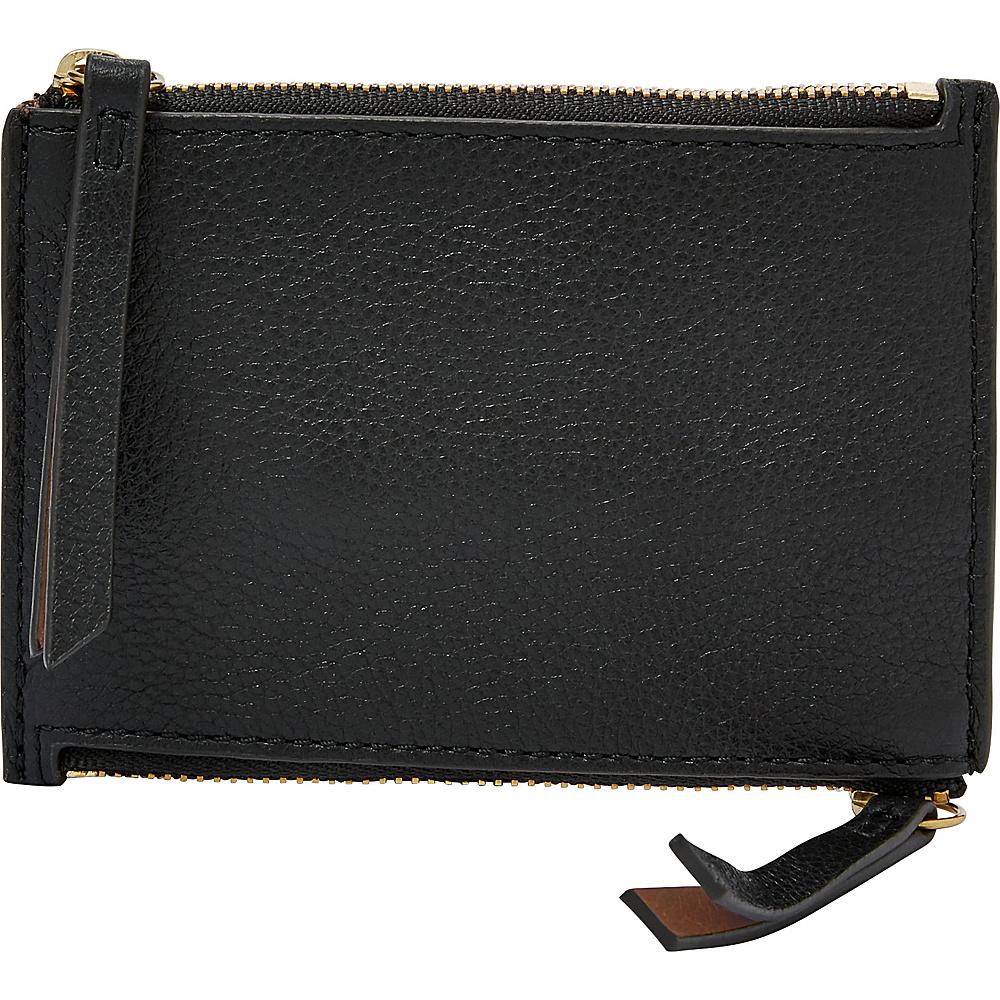 Fossil Mini Double Zip Wallet Black - Fossil Womens Wallets - Women's SLG, Women's Wallets