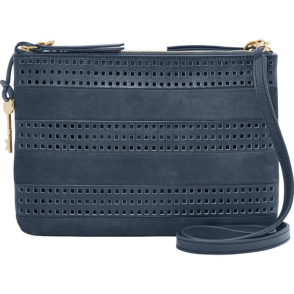 Fossil Devon Crossbody Midnight Navy - Fossil Leather Handbags - Handbags, Leather Handbags