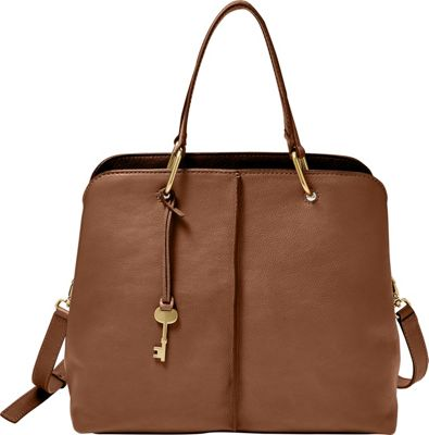 Fossil Lane Satchel Brown - Fossil Leather Handbags