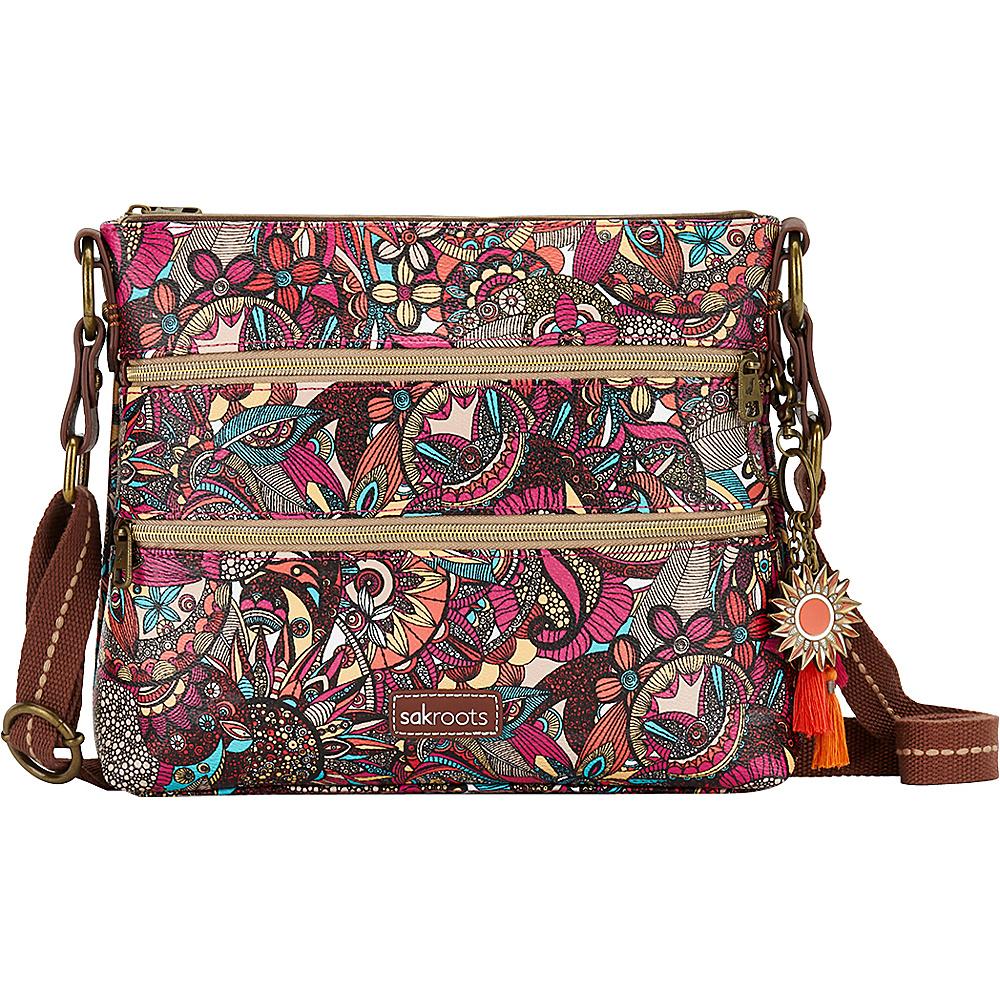 Sakroots Basic Crossbody Berry Spirit Desert - Sakroots Fabric Handbags - Handbags, Fabric Handbags