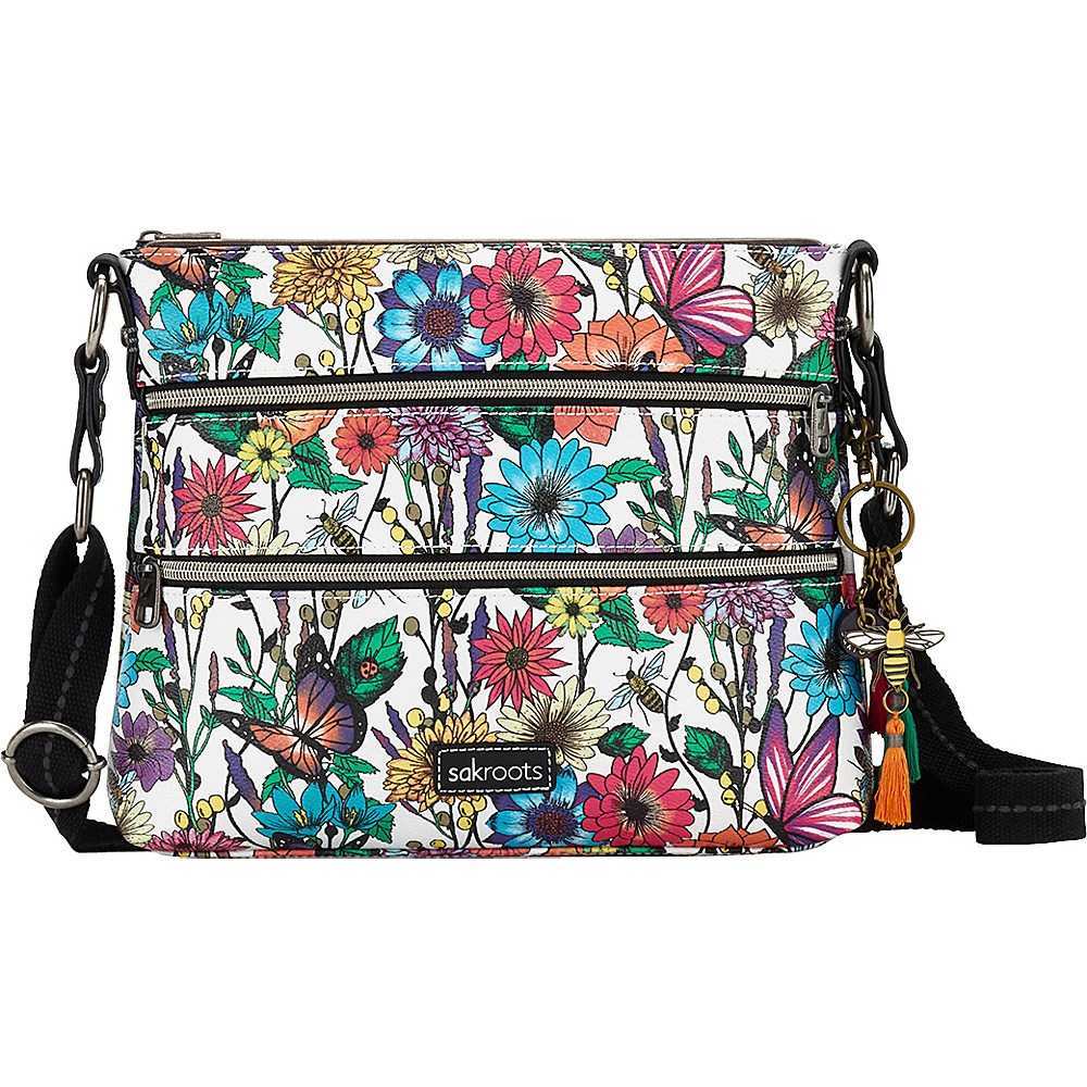 Sakroots Basic Crossbody Optic In Bloom - Sakroots Fabric Handbags - Handbags, Fabric Handbags