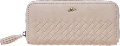 Roots 73 Zippered Round Clutch Sand - Roots 73 Women's Wallets