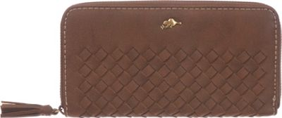 Roots 73 Zippered Round Clutch Trench Brown - Roots 73 Women's Wallets