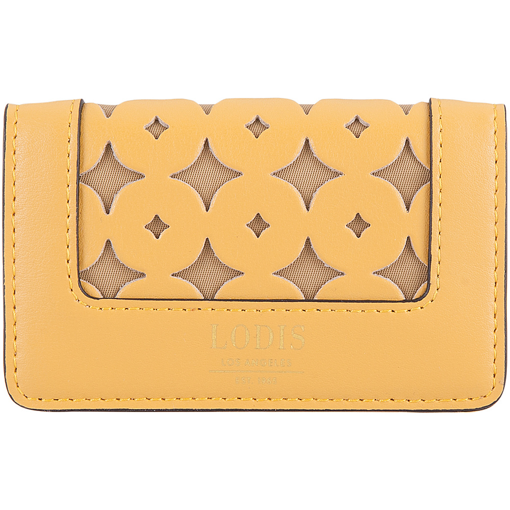 Lodis Laguna Perf RFID Mini Card Case Yellow - Lodis Business Accessories - Work Bags & Briefcases, Business Accessories