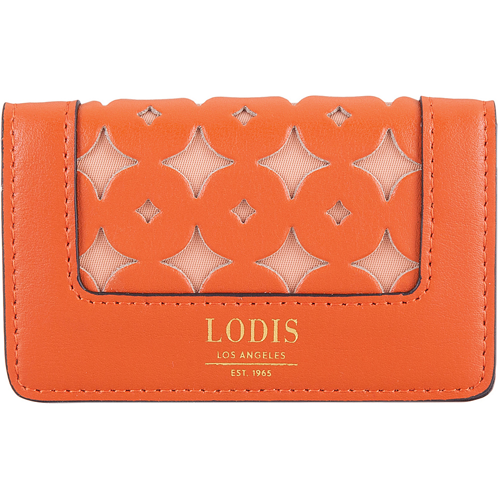 Lodis Laguna Perf RFID Mini Card Case Papaya - Lodis Business Accessories - Work Bags & Briefcases, Business Accessories