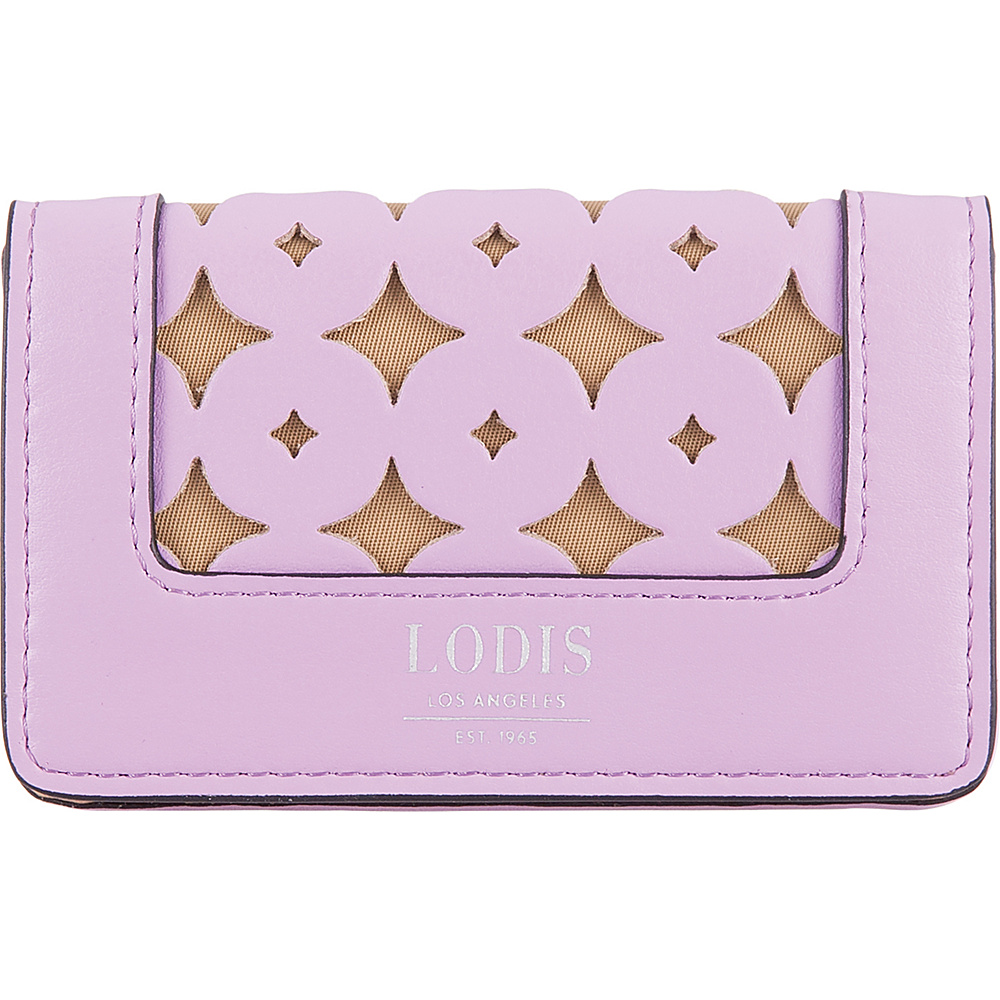 Lodis Laguna Perf RFID Mini Card Case Lavender - Lodis Business Accessories - Work Bags & Briefcases, Business Accessories