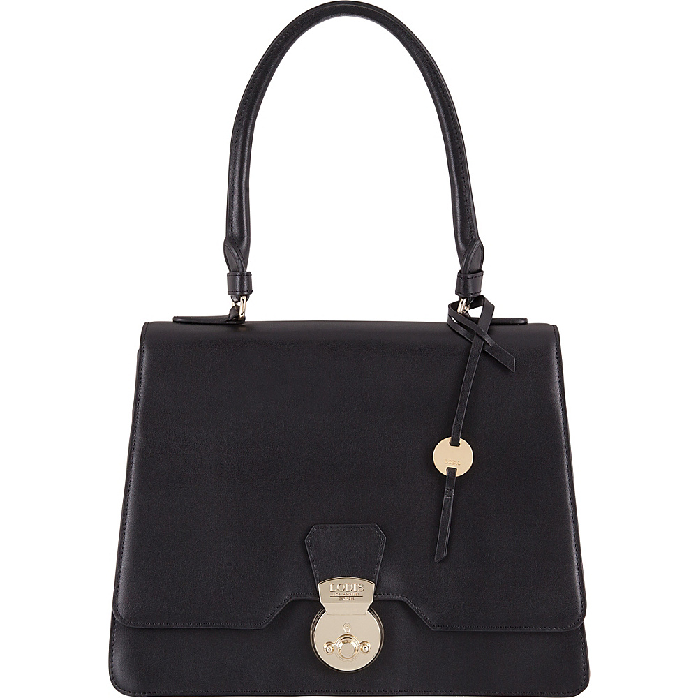 Lodis Rodeo RFID Justina Flap Satchel Black - Lodis Leather Handbags - Handbags, Leather Handbags