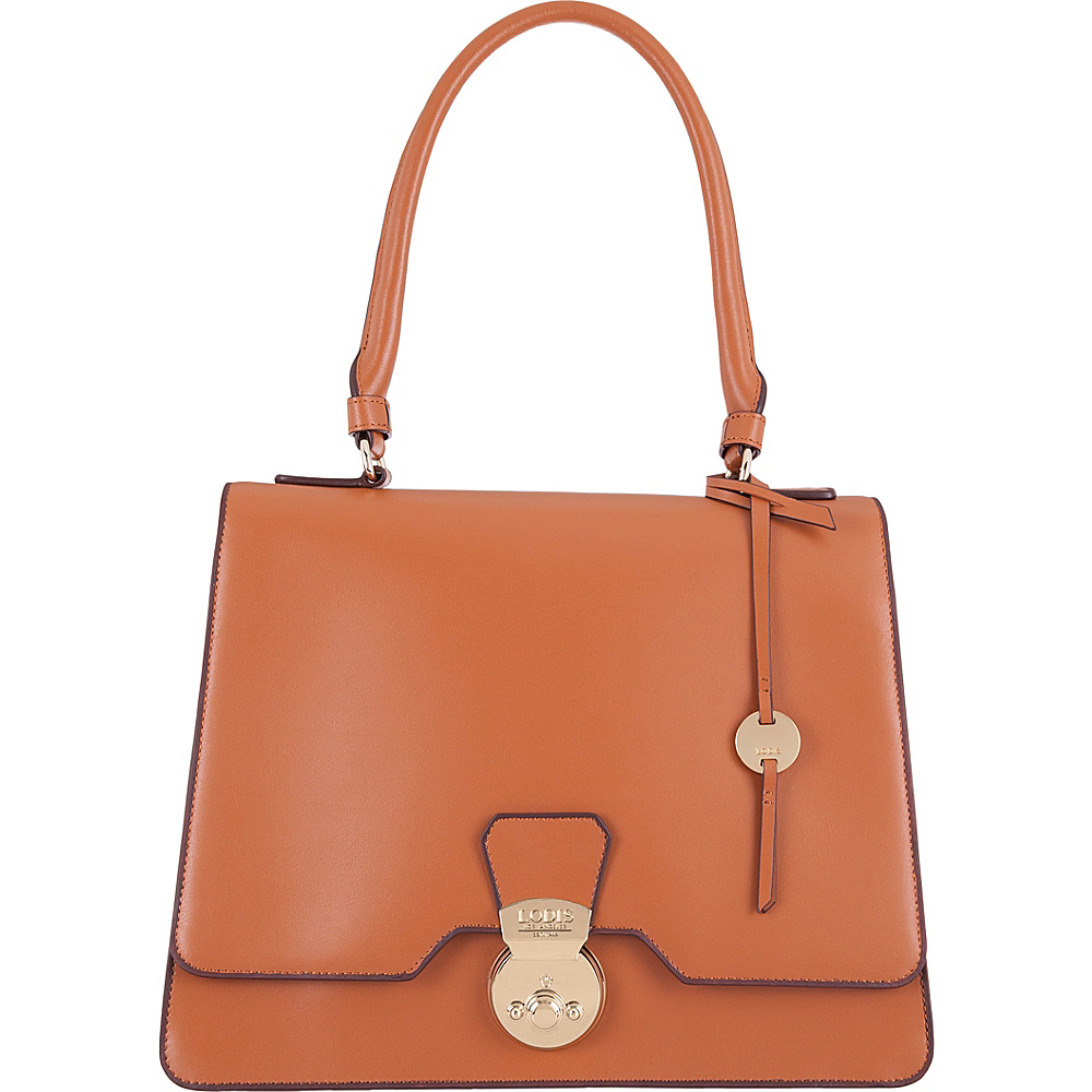 Lodis Rodeo RFID Justina Flap Satchel Toffee - Lodis Leather Handbags - Handbags, Leather Handbags