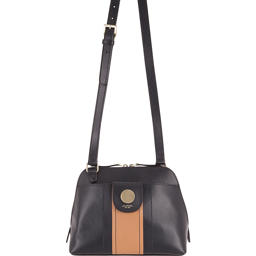Lodis Rodeo Stripe RFID Izabella Crossbody Black - Lodis Leather Handbags - Handbags, Leather Handbags