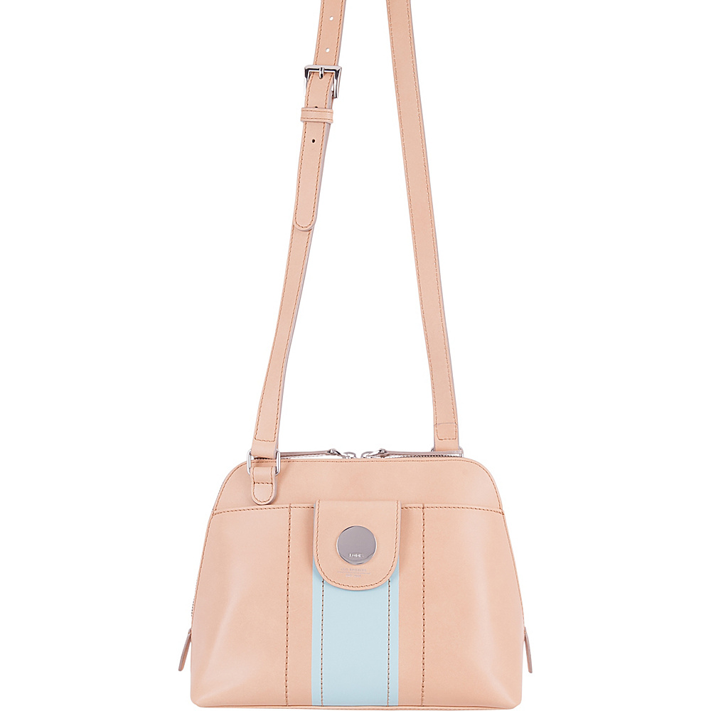 Lodis Rodeo Stripe RFID Izabella Crossbody Beige - Lodis Leather Handbags - Handbags, Leather Handbags