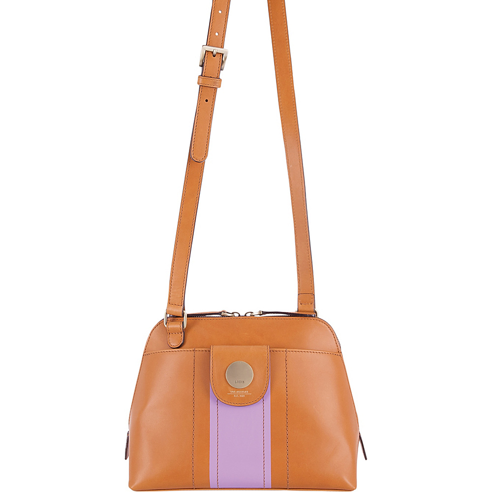 Lodis Rodeo Stripe RFID Izabella Crossbody Toffee - Lodis Leather Handbags - Handbags, Leather Handbags