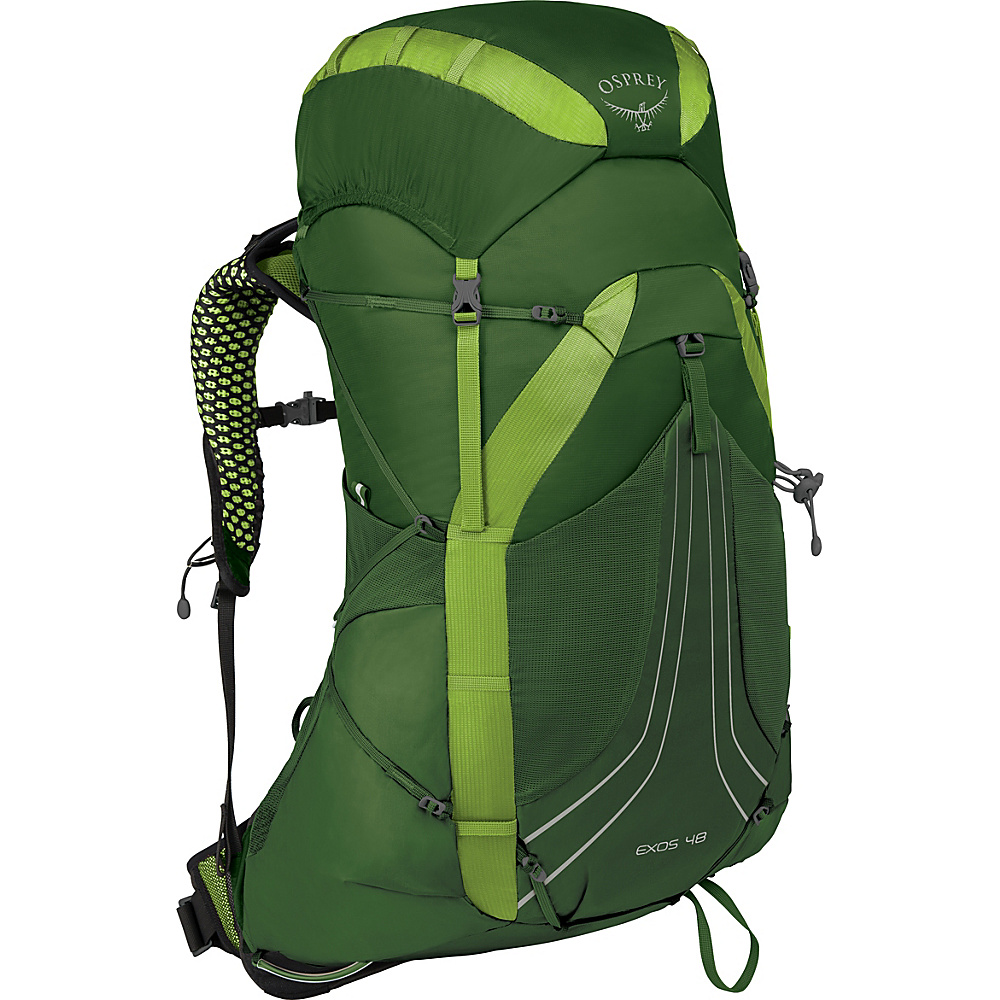 Osprey Exos 48 Hiking Backpack Tunnel Green – MD - Osprey Backpacking Packs - Outdoor, Backpacking Packs