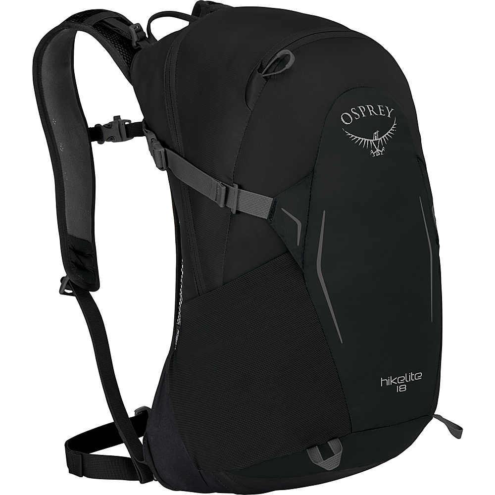 Osprey Hikelite 18 Hiking Backpack Black - Osprey Day Hiking Backpacks - Outdoor, Day Hiking Backpacks
