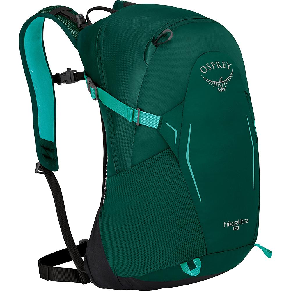 Osprey Hikelite 18 Hiking Backpack Aloe Green - Osprey Day Hiking Backpacks - Outdoor, Day Hiking Backpacks