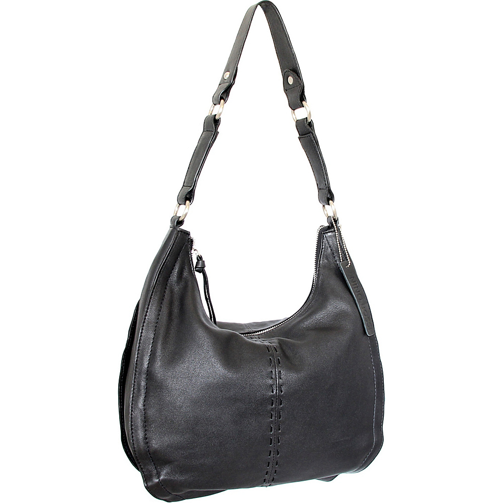 Nino Bossi Lynette Hobo Black - Nino Bossi Leather Handbags - Handbags, Leather Handbags