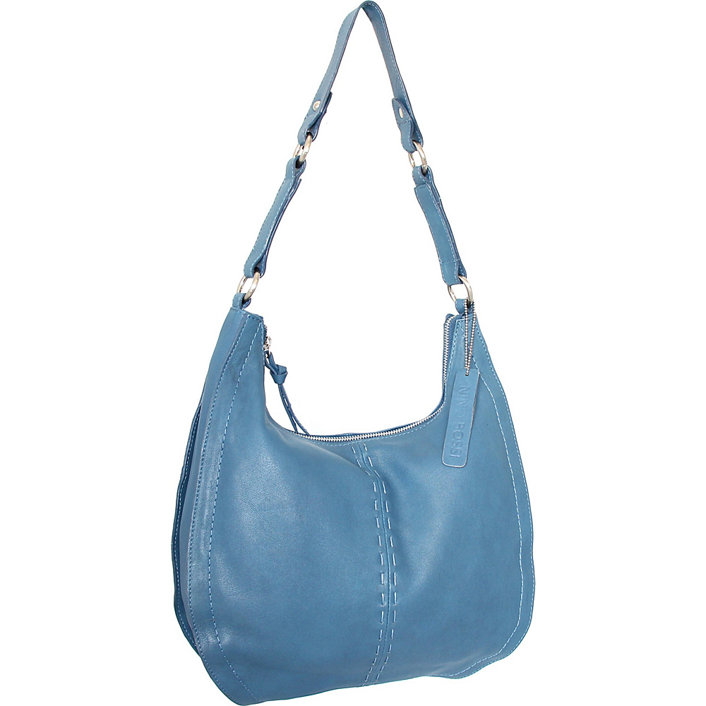 Nino Bossi Lynette Hobo Denim - Nino Bossi Leather Handbags - Handbags, Leather Handbags
