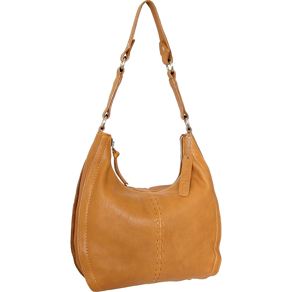 Nino Bossi Lynette Hobo Cognac - Nino Bossi Leather Handbags - Handbags, Leather Handbags