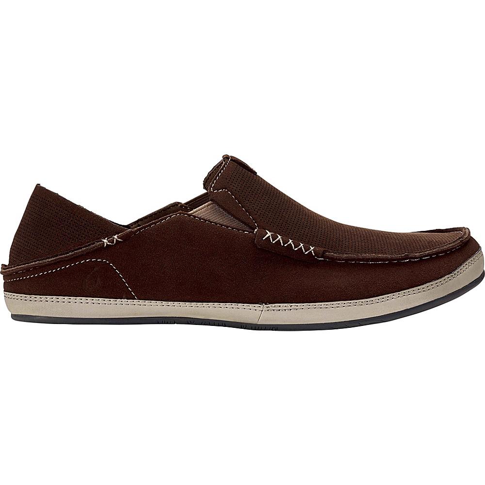 OluKai Mens Kauwela Slip-On 7 - Dark Wood/Silt - OluKai Mens Footwear - Apparel & Footwear, Men's Footwear